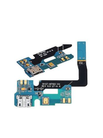 Charging Connector Port Jack Mic Flex Cable Patta for Samsung Galaxy Note 2 GT- N7102