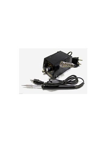 Micro Tip Soldering Iron Adjustable Temperature Station Kit With Built In Stand (5-35W)